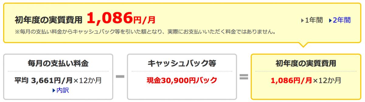 価格.com WiMAX料金