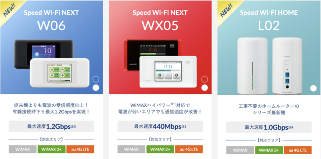 broad wimax ルーター